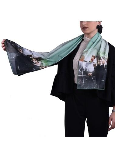 İpekpark  Atatürk Serisi Fular Yeşil